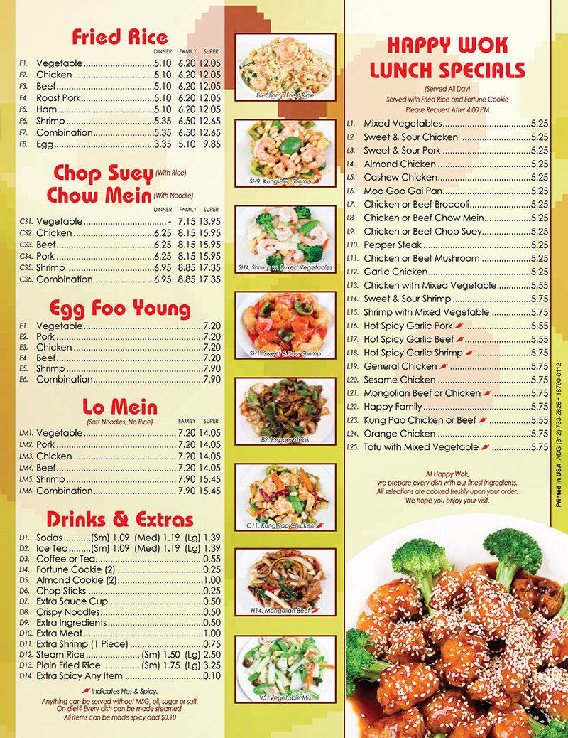 Chinese Cafe Menu